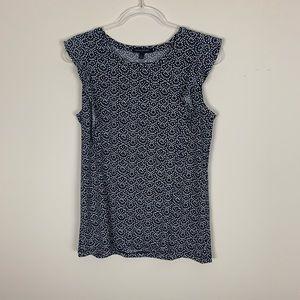 Banana Republic | Black white print blouse size M